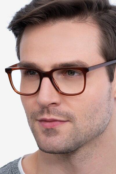 Girona Marron Acétate Montures de Lunettes pour Hommes d'EyeBuyDirect