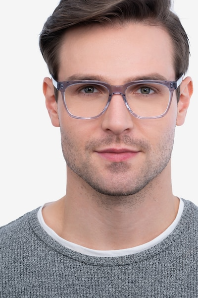 Jamie Gray Acetate Eyeglass Frames for Men from EyeBuyDirect, Front View