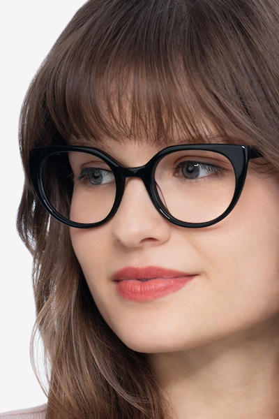 Rhyme Black Acetate Eyeglass Frames for Women from EyeBuyDirect