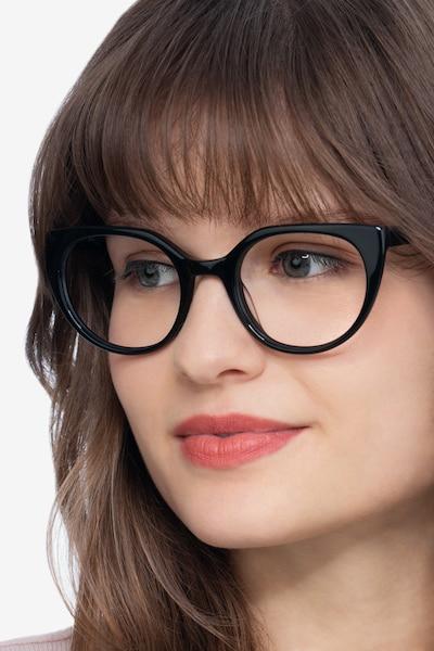 Rhyme Black Acetate Eyeglass Frames for Women from EyeBuyDirect