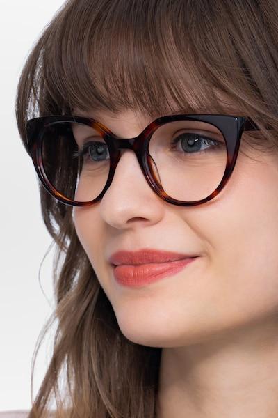 Rhyme Tortoise Acetate Eyeglass Frames for Women from EyeBuyDirect