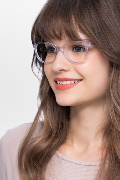 Depth Clear Acetate Eyeglass Frames for Women from EyeBuyDirect