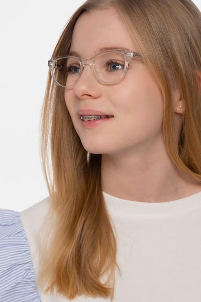 Thinker Transparent Acétate Montures de Lunettes pour Femmes d'EyeBuyDirect, Vue de Face