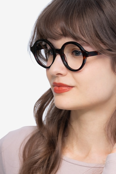 Groove Tortoise Acetate Eyeglass Frames for Women from EyeBuyDirect, Front View