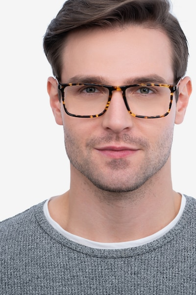Arise Tortoise Acetate Eyeglass Frames for Men from EyeBuyDirect, Front View