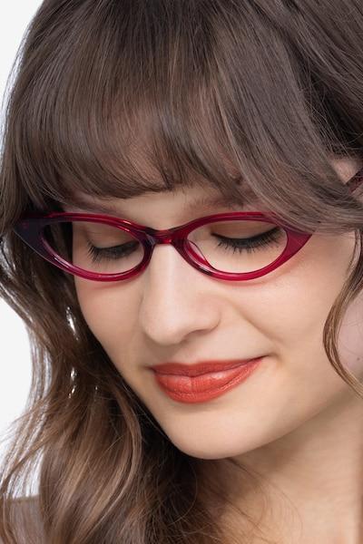 Hush Raspberry Acetate Eyeglass Frames for Women from EyeBuyDirect