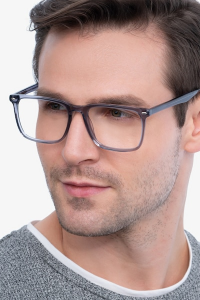 Tactician Gray Acetate Eyeglass Frames for Men from EyeBuyDirect