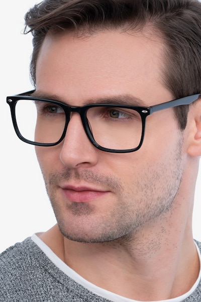 Tactician Black Acetate Eyeglass Frames for Men from EyeBuyDirect