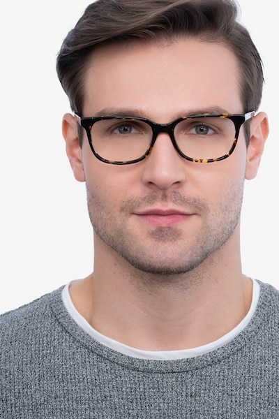 Peruse Tortoise Acetate Eyeglass Frames for Men from EyeBuyDirect, Front View