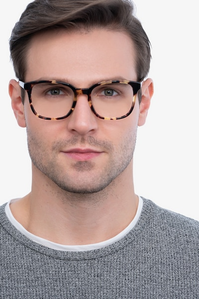 Tower Tortoise Acetate Eyeglass Frames for Men from EyeBuyDirect, Front View