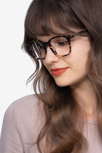 Tower Tortoise Acetate Eyeglass Frames for Women from EyeBuyDirect, Front View