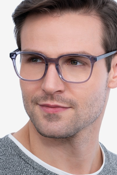 Tower Gray Acetate Eyeglass Frames for Men from EyeBuyDirect