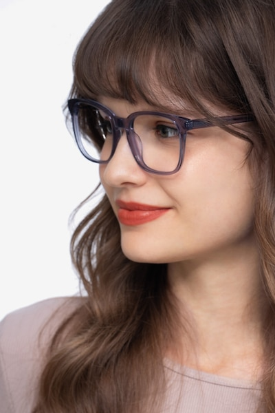Tower Gray Acetate Eyeglass Frames for Women from EyeBuyDirect
