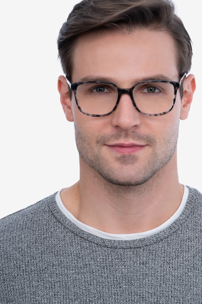 Joanne Gray Tortoise Acetate Eyeglass Frames for Men from EyeBuyDirect, Front View