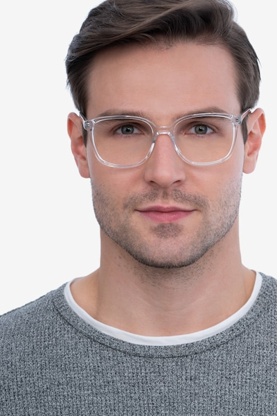 Joanne Clear Acetate Eyeglass Frames for Men from EyeBuyDirect, Front View