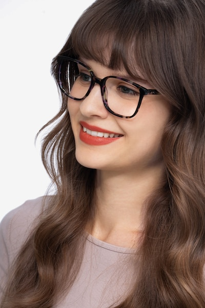 Joanne Floral Acetate Eyeglass Frames for Women from EyeBuyDirect