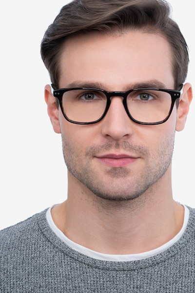 Illustrate Tortoise Acetate Eyeglass Frames for Men from EyeBuyDirect