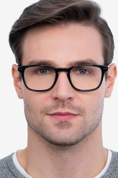 Illustrate Black Acetate Eyeglass Frames for Men from EyeBuyDirect