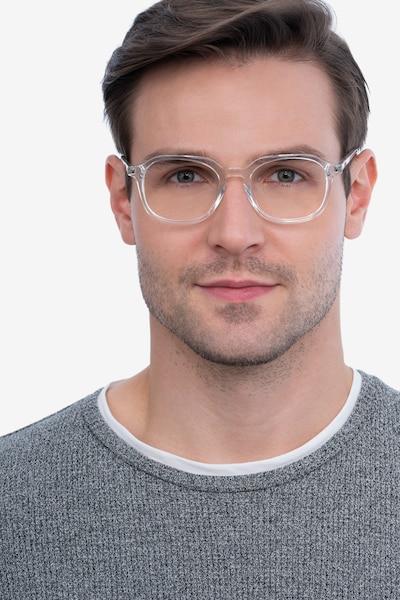 Atlantic Clear Acetate Eyeglass Frames for Men from EyeBuyDirect