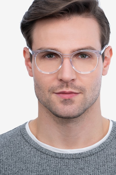 Dulce Clear Acetate Eyeglass Frames for Men from EyeBuyDirect, Front View