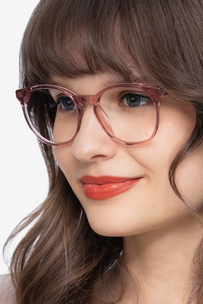 Dulce Pink Acetate Eyeglass Frames for Women from EyeBuyDirect