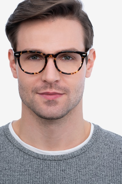 Maeby Tortoise Acetate Eyeglass Frames for Men from EyeBuyDirect, Front View