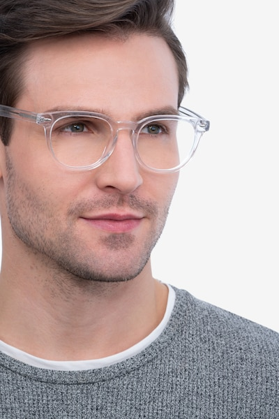 Maeby Clear Acetate Eyeglass Frames for Men from EyeBuyDirect, Front View