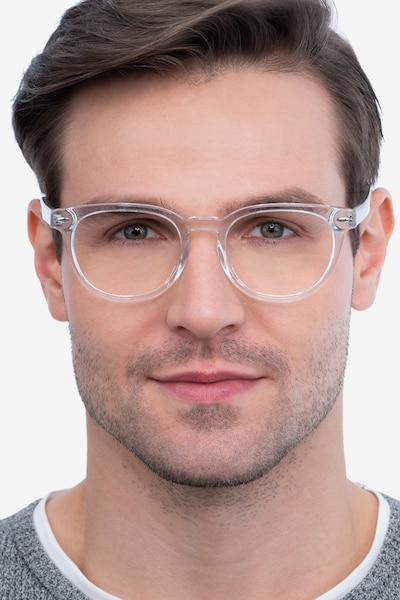 Maeby Clear Acetate Eyeglass Frames for Men from EyeBuyDirect