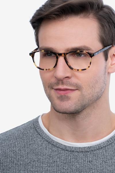 Socorro Tortoise Acetate Eyeglass Frames for Men from EyeBuyDirect, Front View