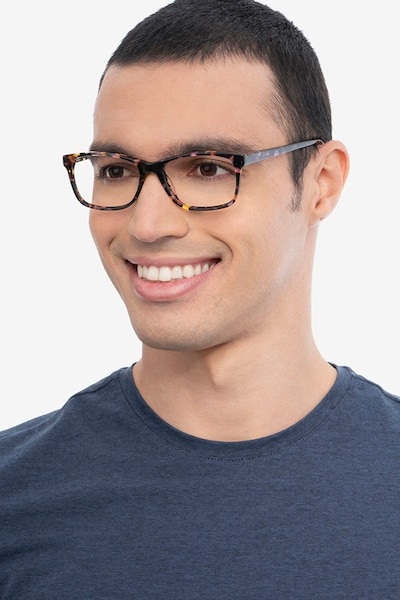 Annett Floral Acetate Eyeglass Frames for Men from EyeBuyDirect