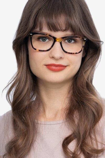 Varda Tortoise Acetate Eyeglass Frames for Women from EyeBuyDirect
