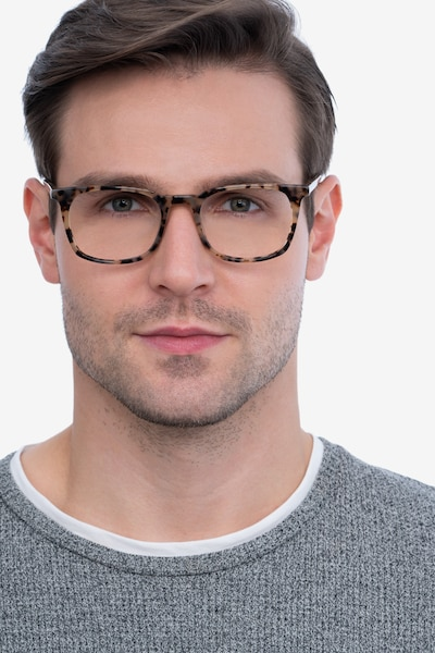 Gabor Tortoise Acetate Eyeglass Frames for Men from EyeBuyDirect, Front View