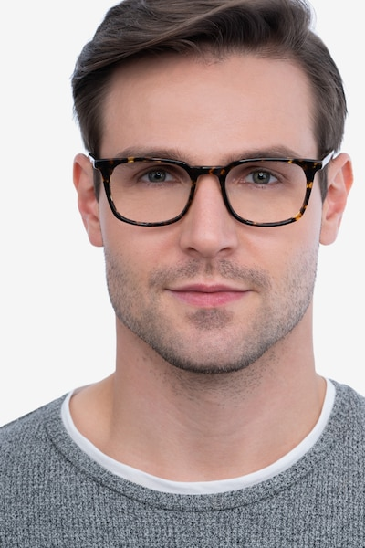 Gabor Brown Tortoise Acetate Eyeglass Frames for Men from EyeBuyDirect, Front View