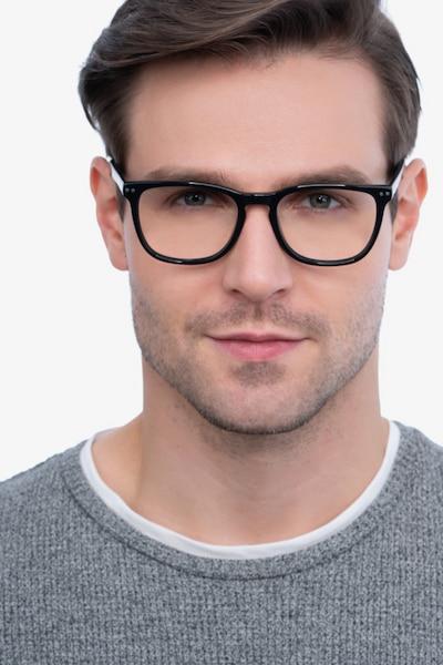 Gato Black Acetate Eyeglass Frames for Men from EyeBuyDirect