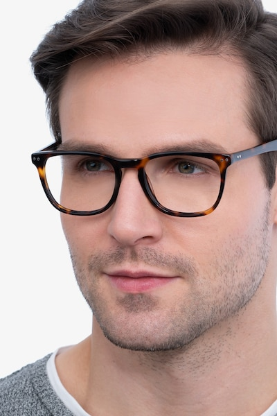 Gato Tortoise Acetate Eyeglass Frames for Men from EyeBuyDirect