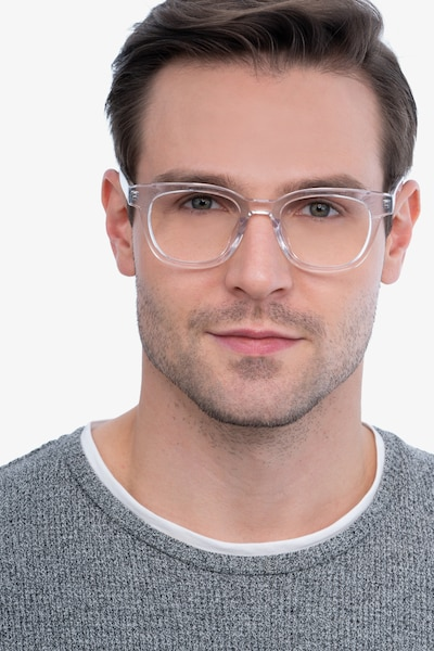 Lighthouse Clear Acetate Eyeglass Frames for Men from EyeBuyDirect, Front View