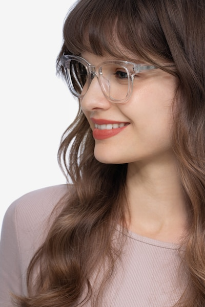 Lighthouse Clear Acetate Eyeglass Frames for Women from EyeBuyDirect