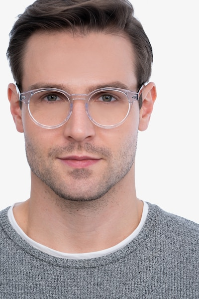 Manara Clear Acetate Eyeglass Frames for Men from EyeBuyDirect, Front View