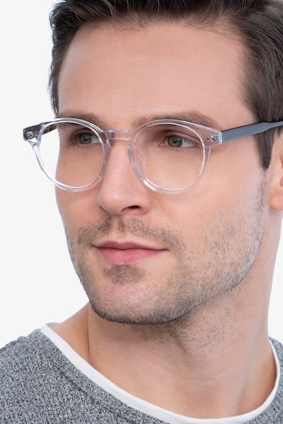 Manara Transparent Acétate Montures de Lunettes pour Hommes d'EyeBuyDirect