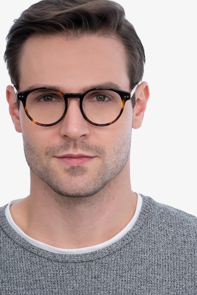 Manara Tortoise Acetate Eyeglass Frames for Men from EyeBuyDirect, Front View