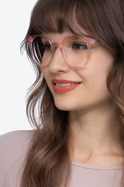 Noun Pink Acetate Eyeglass Frames for Women from EyeBuyDirect