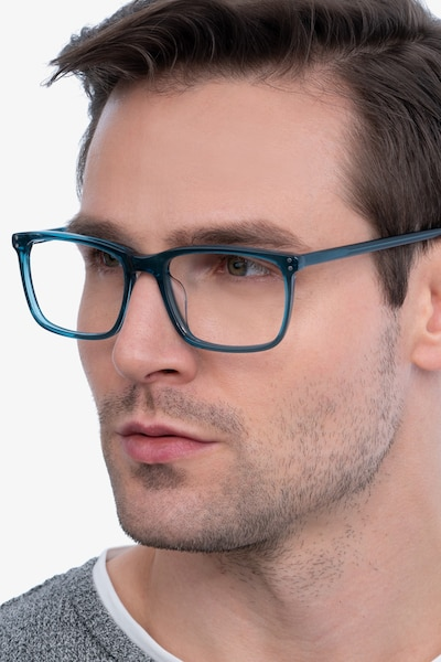 Connect Green blue Acetate Eyeglass Frames for Men from EyeBuyDirect
