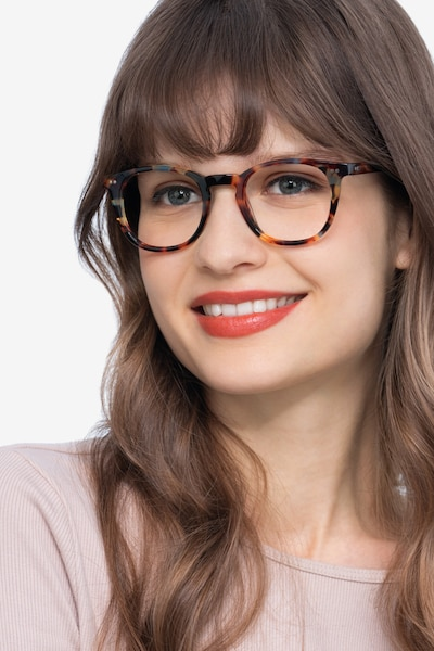 ONA Nebular Blue Acetate Eyeglass Frames for Women from EyeBuyDirect