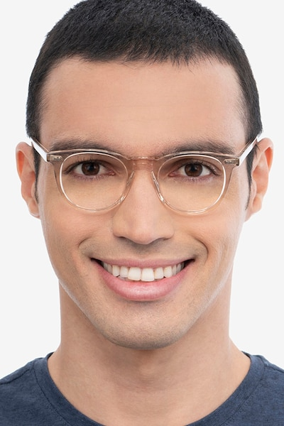 Ona Champagne Acetate Eyeglass Frames for Men from EyeBuyDirect