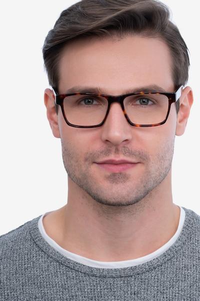 Reyes Tortoise Acetate Eyeglass Frames for Men from EyeBuyDirect, Front View