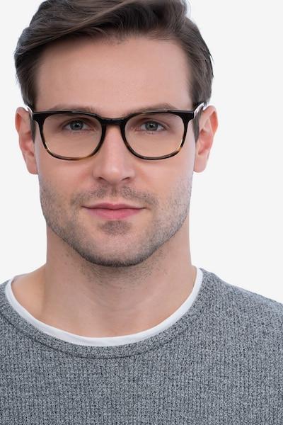 Seasons Tortoise Acetate Eyeglass Frames for Men from EyeBuyDirect, Front View