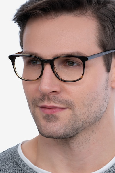 Seasons Tortoise Acetate Eyeglass Frames for Men from EyeBuyDirect