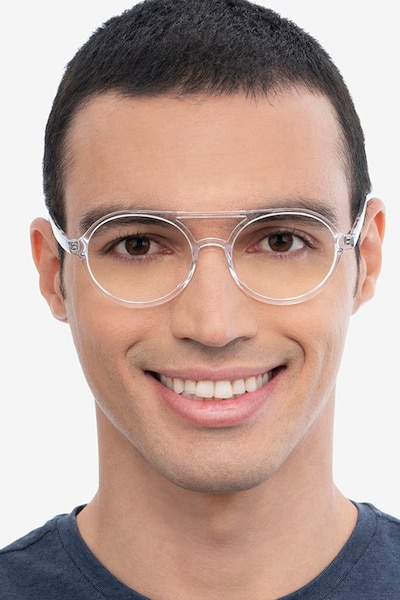 Elevate Clear Acetate Eyeglass Frames for Men from EyeBuyDirect