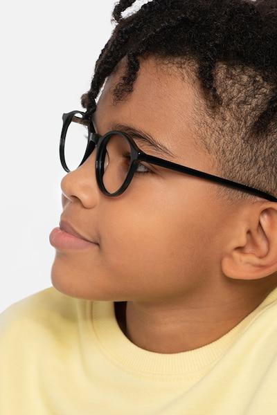 Excel Black Acetate Eyeglass Frames for Men from EyeBuyDirect