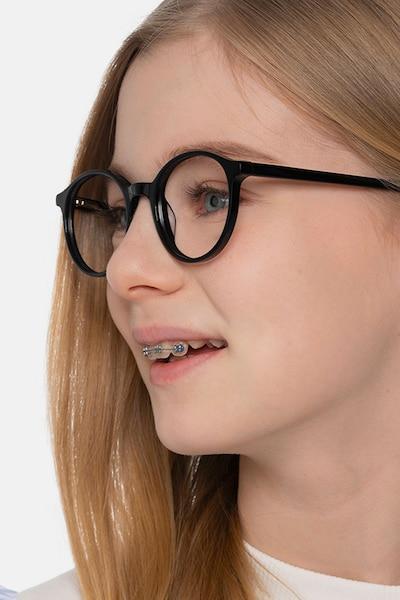 Excel Black Acetate Eyeglass Frames for Women from EyeBuyDirect